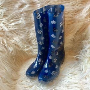 Toms Womens Cabrilla Rain Boot Moonlight Blue Rain